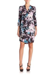 Diane von Furstenberg Freya Printed Stretch-Silk Shirtdress