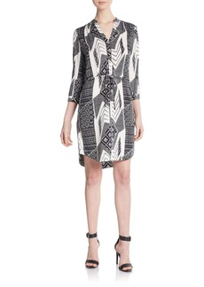 Diane von Furstenberg Freya Printed Stretch-Silk Shirtdress