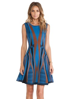 Diane von Furstenberg Gabby Fit & Flare Dress in Blue