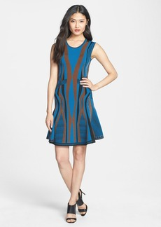 Diane von Furstenberg 'Gabby' Stretch Knit Fit & Flare Dress