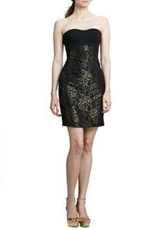 Diane von Furstenberg Garland Strapless Metallic Dress