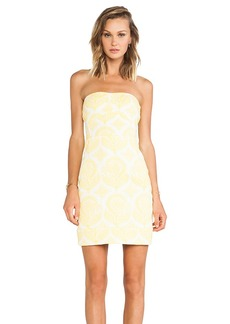 Diane von Furstenberg Garland Two Floral Stamp Dress in Yellow
