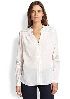 Diane von Furstenberg Gaylen Crinkled Cotton Crepe Blouse