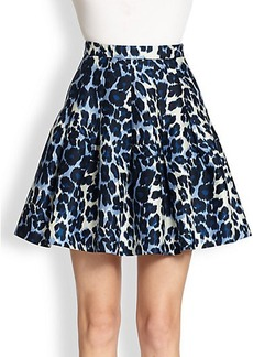 Diane von Furstenberg Gemma Animal-Print Circle Skirt