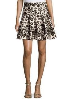 Diane von Furstenberg Gemma Cheetah-Print A-Line Skirt