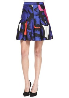Diane von Furstenberg Gemma Floral Box-Pleated Skirt