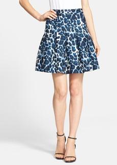 Diane von Furstenberg 'Gemma' Leopard Print Pleated Skirt