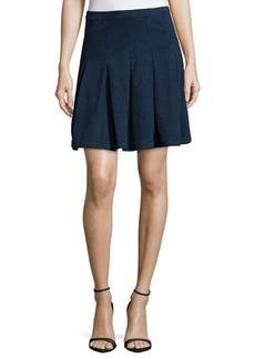 Diane von Furstenberg Gemma Pleated Denim A-Line Skirt  Gemma Pleated Denim A-Line Skirt