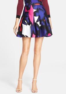Diane von Furstenberg 'Gemma' Print Pleated Skirt