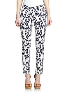 Diane von Furstenberg Genesis Printed Stretch-Cotton Pants