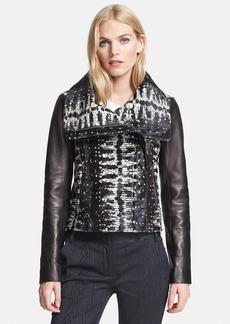 Diane von Furstenberg Genuine Calf Hair & Leather Jacket