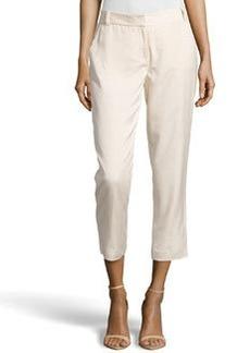 Diane von Furstenberg Georginne Woven Crop Pants, Hay Stack