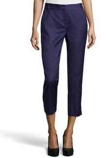 Diane von Furstenberg Georginne Woven Crop Pants, New Denim
