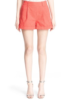 Diane von Furstenberg 'Gillian' Stretch Cotton Shorts