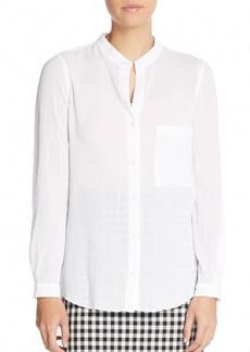 Diane von Furstenberg Gilmore Cotton Crepe Caftan Shirt