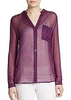 Diane von Furstenberg Gilmore Sheer Silk Shirt