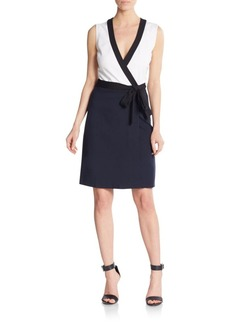 Diane von Furstenberg Gracie Colorblock Wrap Dress
