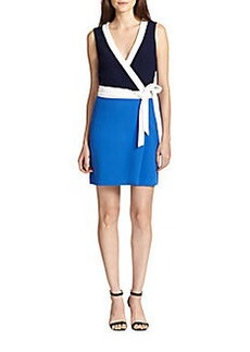 Diane von Furstenberg Gracie Colorblocked Wrap Dress