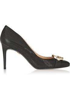 Diane von Furstenberg Greta lizard-effect leather pumps