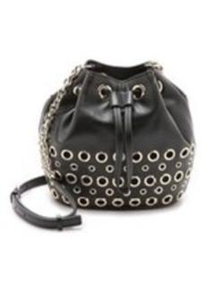 Diane von Furstenberg Grommet Studded Drawstring Bucket Bag