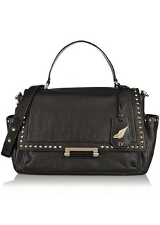 Diane von Furstenberg H-Line Courier embellished leather tote