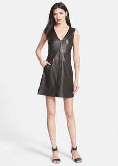Diane von Furstenberg 'Halle' Leather A-Line Dress