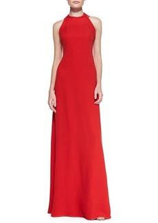 Diane von Furstenberg Halter-Neck Back Strap Gown