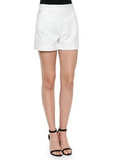 Diane von Furstenberg Hattie Pleated-Front Woven Shorts
