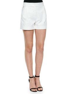 Diane von Furstenberg Hattie Pleated-Front Woven Shorts