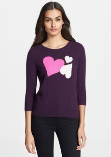Diane von Furstenberg Heart Intarsia Cashmere Sweater