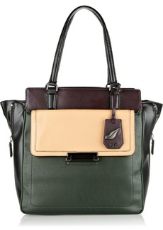 Diane von Furstenberg Highline color-block leather tote