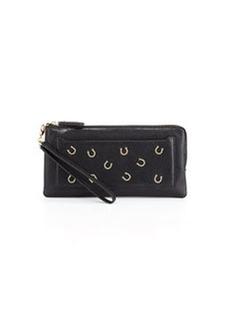 Diane von Furstenberg Horseshoe-Front Clutch Bag, Black