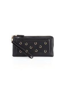 Diane von Furstenberg Horseshoe-Front Clutch Bag, Black