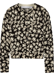 Diane von Furstenberg Ibiza printed wool and cashmere-blend cardigan