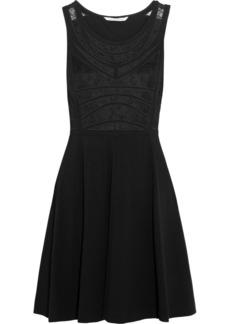 Diane von Furstenberg Idelia lace-paneled jersey mini dress
