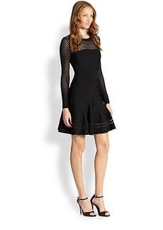 Diane von Furstenberg Illusion Body-Con Flare Dress