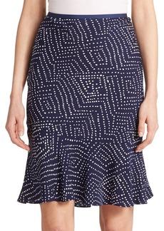 Diane von Furstenberg Isabell Printed Flutter Skirt