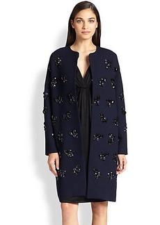 Diane von Furstenberg Isabelle Paillette Cocoon Coat