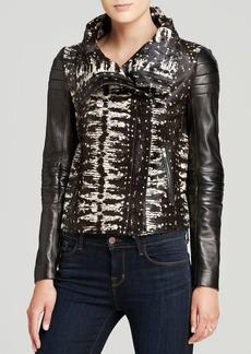 DIANE von FURSTENBERG Jacket - Short Calf Hair Leather