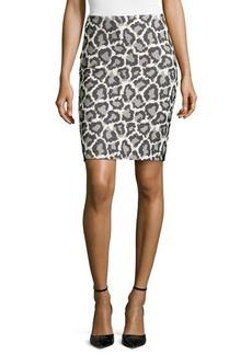 Diane von Furstenberg Jaguar-Print Jacquard Miniskirt