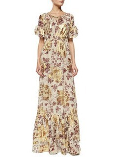 Diane von Furstenberg Jane Floral-Print Long Dress