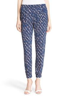 Diane von Furstenberg 'Janeta' Floral Print Silk Jogger Pants