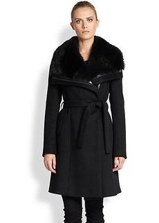 Diane von Furstenberg Janice Fur-Collar Coat