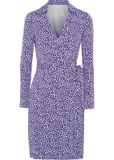 Diane von Furstenberg Jeanne leopard-print stretch-jersey wrap dress