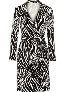 Diane von Furstenberg Jeanne zebra-print stretch-jersey wrap dress