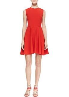 Diane von Furstenberg Jeannie Fit-and-Flare Dress, Chili Pepper