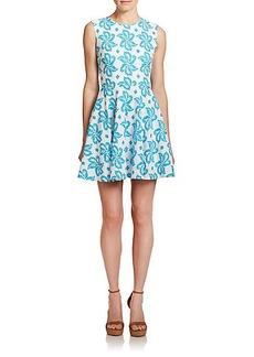 Diane von Furstenberg Jeannie Printed Knit Dress