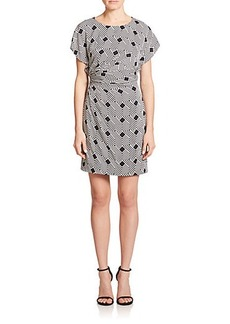 Diane von Furstenberg Jenna Stretch Silk Print Dress