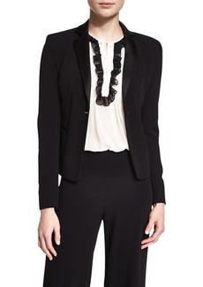 Diane von Furstenberg Jennie Single-Button Crepe Blazer