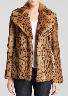 DIANE von FURSTENBERG Jessica Leopard Print Fur Coat